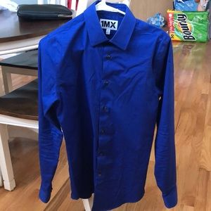 Men's extra slim fit button down dress shirt